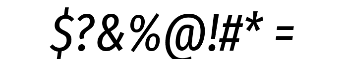 Fira Sans Extra Condensed Italic Font OTHER CHARS