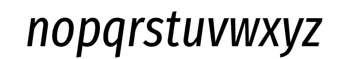 Fira Sans Extra Condensed Italic Font LOWERCASE