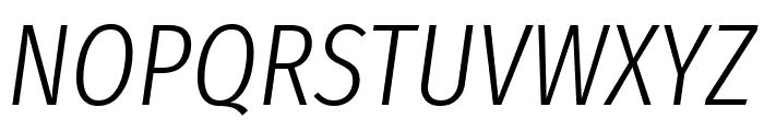 Fira Sans Extra Condensed Light Italic Font UPPERCASE