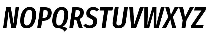 Fira Sans Extra Condensed Medium Italic Font UPPERCASE
