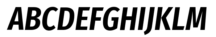 Fira Sans Extra Condensed SemiBold Italic Font UPPERCASE