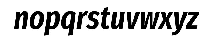 Fira Sans Extra Condensed SemiBold Italic Font LOWERCASE