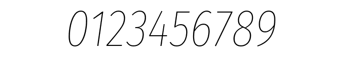 Fira Sans Extra Condensed Thin Italic Font OTHER CHARS