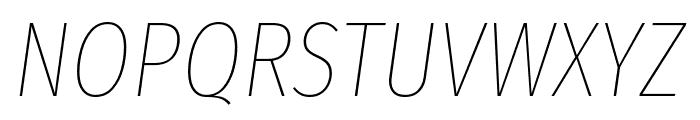 Fira Sans Extra Condensed Thin Italic Font UPPERCASE