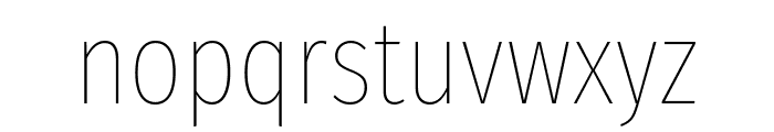 Fira Sans Extra Condensed Thin Font LOWERCASE