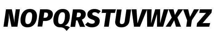 Fira Sans ExtraBold Italic Font UPPERCASE