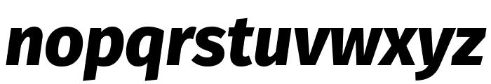 Fira Sans ExtraBold Italic Font LOWERCASE