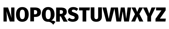 Fira Sans ExtraBold Font UPPERCASE