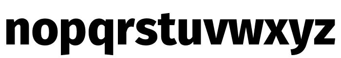 Fira Sans ExtraBold Font LOWERCASE