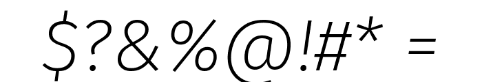 Fira Sans ExtraLight Italic Font OTHER CHARS
