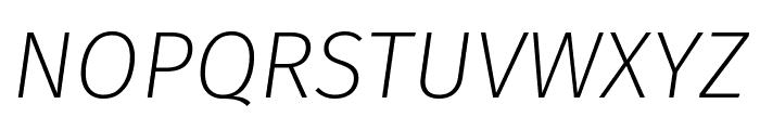 Fira Sans ExtraLight Italic Font UPPERCASE
