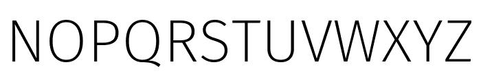 Fira Sans ExtraLight Font UPPERCASE