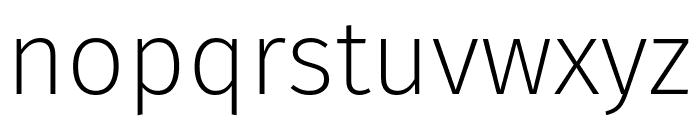 Fira Sans ExtraLight Font LOWERCASE