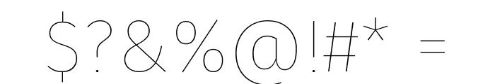 Fira Sans Hair Font OTHER CHARS