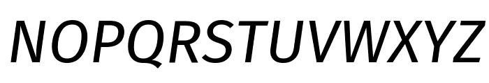 Fira Sans Italic Font UPPERCASE