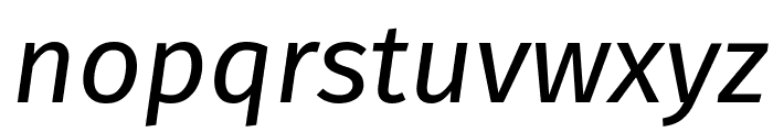Fira Sans Italic Font LOWERCASE
