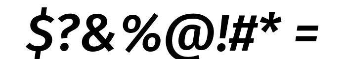 Fira Sans Medium Italic Font OTHER CHARS