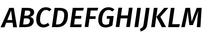 Fira Sans Medium Italic Font UPPERCASE