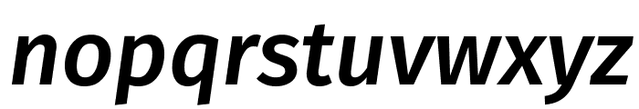 Fira Sans Medium Italic Font LOWERCASE