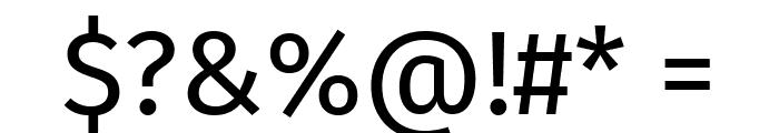 Fira Sans Regular Font OTHER CHARS