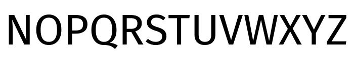 Fira Sans Regular Font UPPERCASE