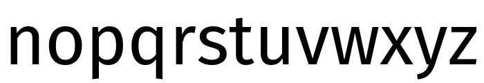Fira Sans Regular Font LOWERCASE