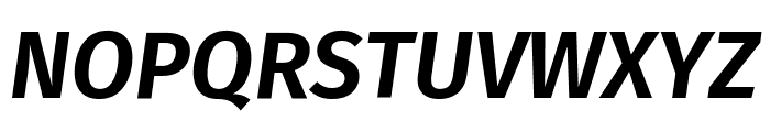 Fira Sans SemiBold Italic Font UPPERCASE
