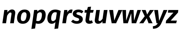 Fira Sans SemiBold Italic Font LOWERCASE