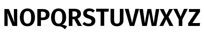 Fira Sans SemiBold Font UPPERCASE