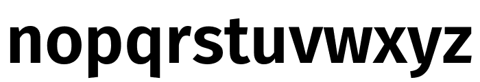 Fira Sans SemiBold Font LOWERCASE
