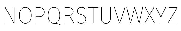Fira Sans Thin Font UPPERCASE
