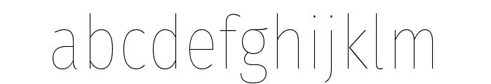FiraSansCondensed-Hair Font LOWERCASE