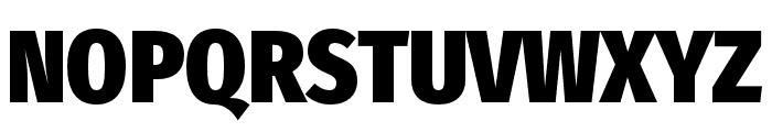 FiraSansCondensed-Heavy Font UPPERCASE