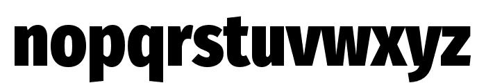 FiraSansCondensed-Heavy Font LOWERCASE