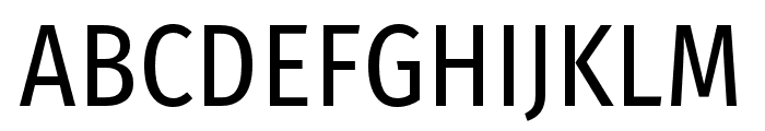 FiraSansCondensed-Regular Font UPPERCASE