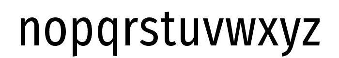 FiraSansCondensed-Regular Font LOWERCASE