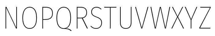 FiraSansCondensed-Thin Font UPPERCASE