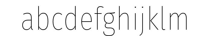 FiraSansCondensed-Thin Font LOWERCASE