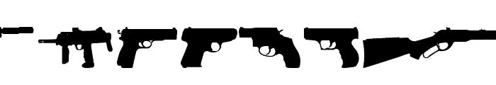 Fireguns tfb Font UPPERCASE