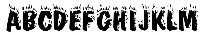 Firey Normal Font UPPERCASE