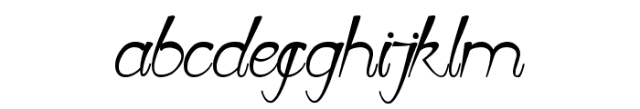 First Love Font LOWERCASE