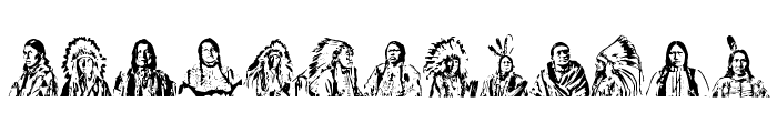 First Nations Regular Font UPPERCASE