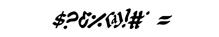 First Order Condensed Italic Font OTHER CHARS