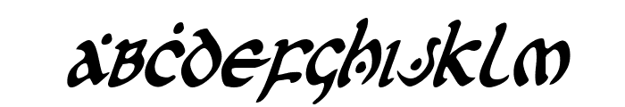 First Order Condensed Italic Font UPPERCASE
