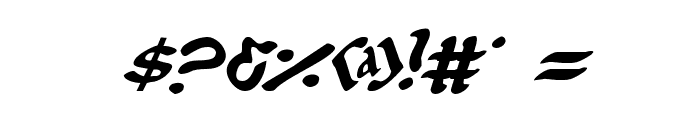 First Order Plain Italic Font OTHER CHARS