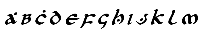 First Order Title Italic Font UPPERCASE