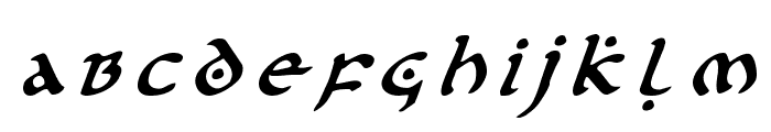 First Order Title Italic Font LOWERCASE