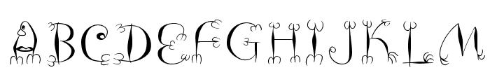 FishHooks Font LOWERCASE