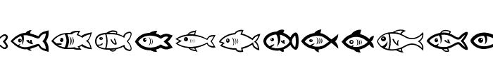 Fishes Regular Font UPPERCASE