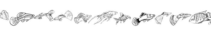 Fishing Font UPPERCASE
